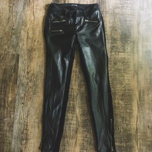 Kendall and Kylie Denim & Leather Panel Jeans